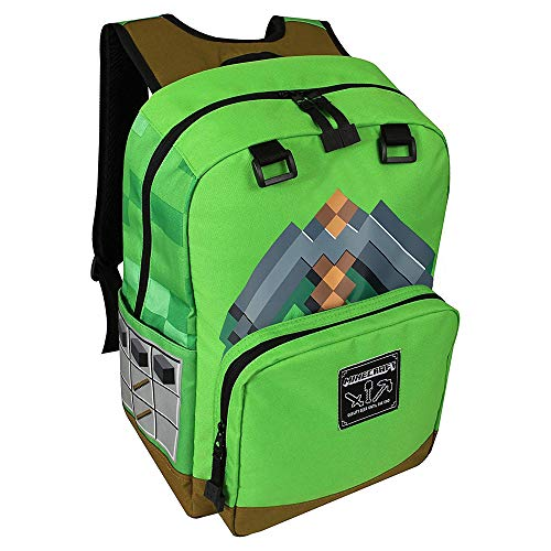 JINX Minecraft Backpack Kindergepäck 44 centimeters Grün (Green)