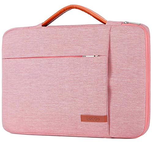 Lacdo 360° Protective Laptop Sleeve Case for 16-inch New MacBook Pro 2019 A2141, 15' MacBook Pro Touch Bar A1990 2012-2018,15 inch Microsoft Surface Book 2, Computer Notebook Bag Water Resistant, Pink