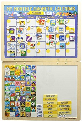 Melissa & Doug-Mon Calendrier Magnétique Mensuel (en Anglais Seulement), 13788, My Monthly Magnetic Calendar