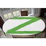 Mantel ajustable de poliéster elástico, con diseño de margaritas y margaritas de manzanilla, rectangular, ovalado, para mesas de hasta 122 cm de ancho x 172 cm de largo.