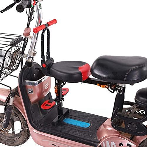 X&Y Lanzamiento rápido Montaje Delantero Niño eléctrico Bicicleta Asiento para niños Silla de Montar eléctrica Bicicleta eléctrica Niños Seguridad Asiento Delantero Cojín Sillín (Color : Black)