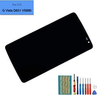 New Replacement LCD Touch Screen Compatible with LG G Vista D631 VS880 Digitizer Full Assembly Black with Frame + Adhesive + Tools