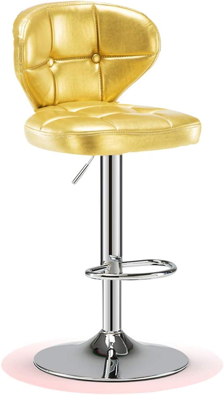 DingHome-ca Barstools - Modern Pu Leather Adjustable Swivel Bar Chair, Kitchen Counter Bar Stool