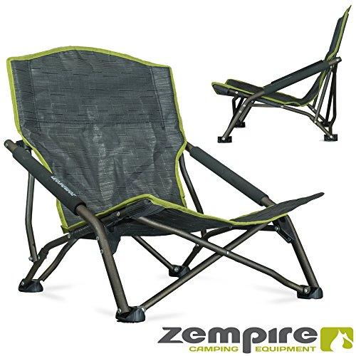 Zempire Front Row ZE-0150904 | Design Leichtgewichtsstuhl mit EXTRA breiten Standfüßen | bequemer + extra stabiler Campingstuhl | Kleines Packmaß | inklusive Tragetasche