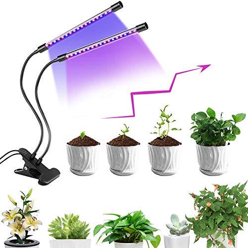Lampe de Croissance pour Plantes, Lampe pour Plante, 5 Niveaux à variation réglable LED Plante Lampe, 40 LEDs Lampe Horticole Spectre Complet avec Chronométrage Auto-ON/OFF 3/9/12H