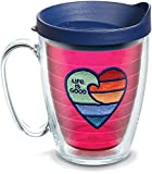 Tervis 1314609 Life is Good - Rainbow Heart Insulated Tumbler with Emblem and Lid, 16 oz Mug - Tritan, Ruby