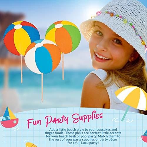 Fun Express 25 Count Paper Beach Ball Picks