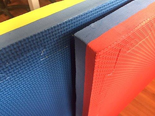 GervasiSport- Tatami puzzle encajable modular, 100x 100x 4cm, con 3bordes incluidos
