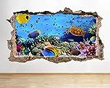 acuario peces océano vinilo niños habitación pegatina mural calcomanía Decal Print 60x90cm