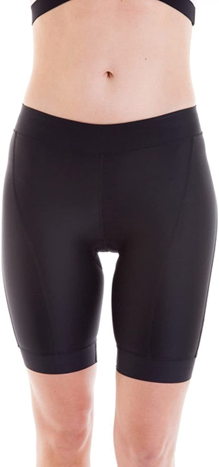 Alii Lifestyle Giada Black Compression Bike Short  9 Inch