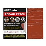 ALENOR Brown Butyl All Weather Repair Patch 4'x6' Waterproof Sealing Patch Roof Leak Indoor or Outdoor Pipe Repair HVAC Vent Air Conditioner Window Seal Unit Rain Gutters Flashings Auto & Boats RV