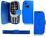 PIXFAB Klappetui für Nokia 3310 (2G) 2017, Leder, Blau