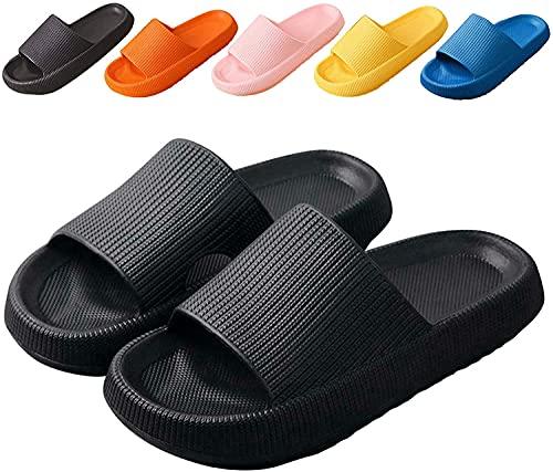NUSGEAR Chaussures Sandales de Plage Femmes Hommes Claquettes de Douche Chaussons Antidérapantes Pantoufles été Ultra-Soft Slippers piscine Plage À Semelles Épaisses
