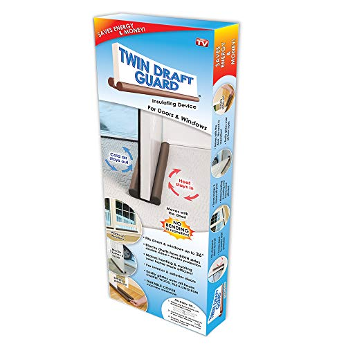 Original Twin Draft Guard Door Draft Stopper, Year Round Insulator, for Summer and Winter Use Patented & TRADEMARKED