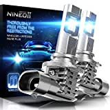 NINEO Fanless 9012 HIR2 LED Bulbs   60W Wireless Halogen Replacement Super Bright All-in-One Conversion Kit   6500K Cool White Pack of 2 IP68 Waterproof