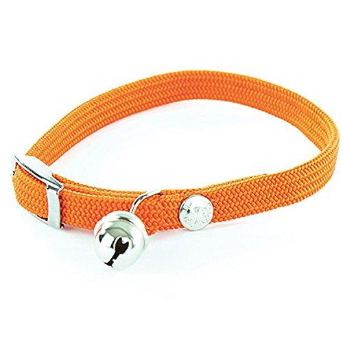 Collier chat nylon élastique - Orange