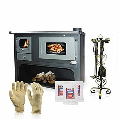 Foto di Zvezda fornello a legna, stufa a legna di cottura, modello classico Maxi VR 10, potenza 17KW, boiler, forni, Termocucina a legna idro, Caldaia Cucina a legna con forno