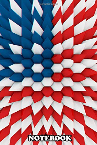 """Notebook: 3d Usa Poly Flag , Journal for Writing, College Ruled Size 6"""" x 9"""", 110 Pages"""