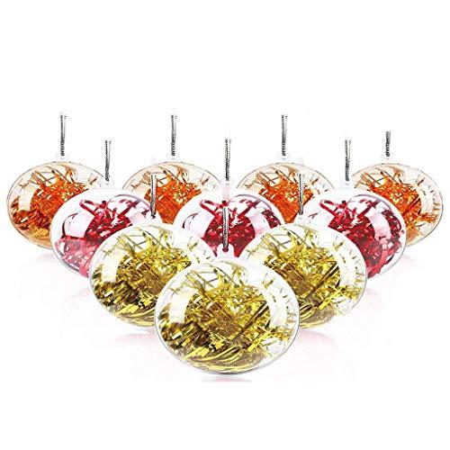 WELLXUNK Palla Trasparente, Palle Natale Plastica, Trasparenti Palline di Natale, Trasparenti per Decorazioni Fai da Te per Albero di Natale, Decorazioni di Natale Riempibili (20 Pezzi)