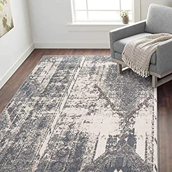 World Rug Gallery 5 x 7 Feet Distressed Contemporary Area Rug