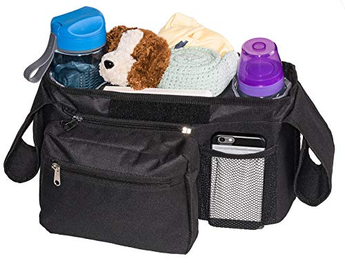 Bubclub's Baby Stroller Organizer - Lightweight & Compact