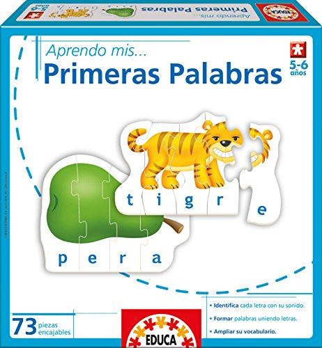 Educa borrás 15323 - J'apprends Mes Premières mots - version espagnole