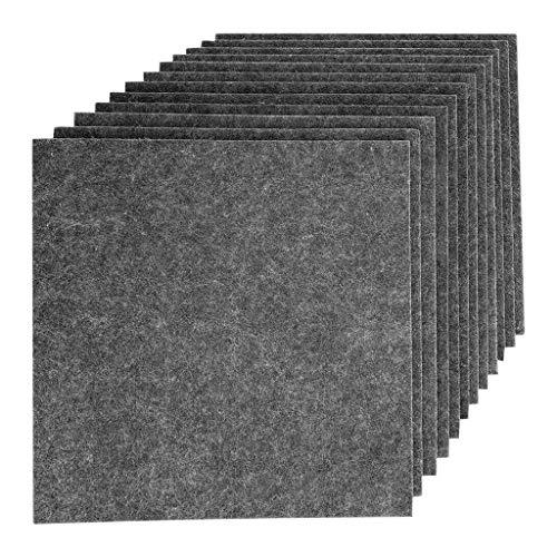 12PCS Akustikelemente Noppenschaumstoff Akustikschaumstoff Breitbandabsorber Pyramide Isolierung Akustik Wand Schaumstoff Polsterung Studio Schaumstoff 12 '' X 12 '' X 0,4 '' (Grau)