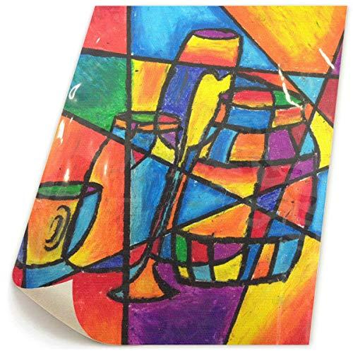 Paint C Kunstwerk-Gemälde, Rahmenlos, Kubismus, Stillleben, Leinwandbild, Dekoration für Zuhause, Wohnzimmer, Schlafzimmer, 47 x 58 cm
