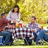 LATTCURE 8 Stück Tischdeckenbeschwerer Outdoor, Edelstahl Tischtuchbeschwere Set mit Stahlclips, Tischtuchklammern für Dicke Tischplatten, Tischtuchhalter für Drinnen Draußen, Haus, Restaurant - 4