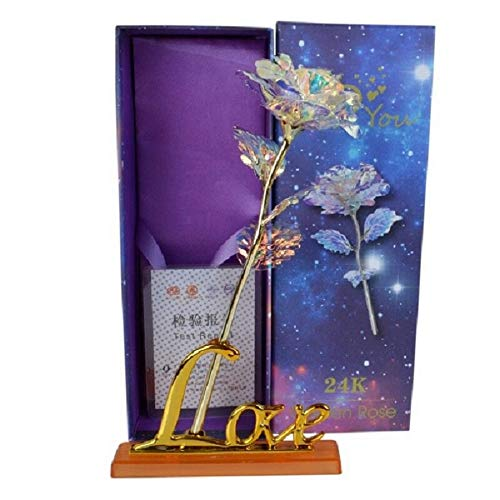 NAWEIDA Colorful Rose Infinity Rose Galaxy Rose Flower Gifts for Valentines Day Thanksgiving Mothers Day