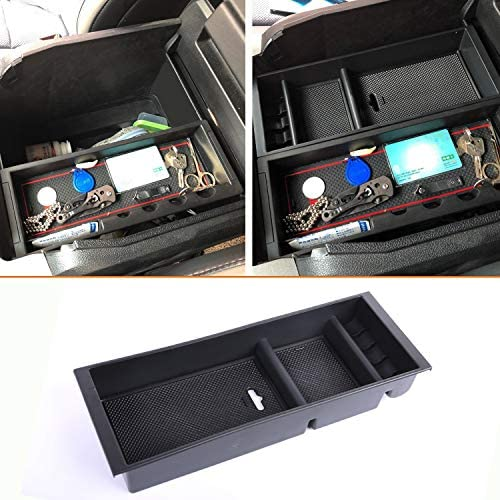 JDMCAR Center Console Armrest Insert Organizer ABS Tray Pallet Storage Box Container Compatible product image