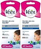 Veet Wachsstreifen für Gesicht – Sensitive Haut, Maxi Format 40 Streifen
