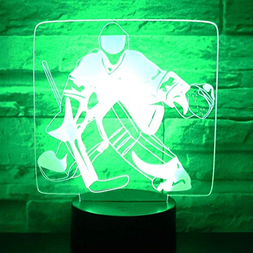 3D LED Nachtlicht Eishockey vor dem Tor mit 7 Farben Licht für Home Decoration Lampe Erstaunliche Visualisierung Optisch