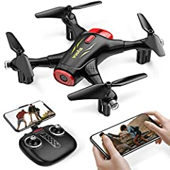【720P Camera & WiFi Transmission】X400 RC Drone equipped with a 720P FOV 110°HD camera, you can easily capture high-resolution portraits and videos by it. FPV mode (First Person View) is useful for enjoying distant landscapes. Real-time WiFi transmiss...