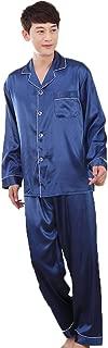 ZUEVI Men's Classic Satin Propitious Clouds Pajamas Set