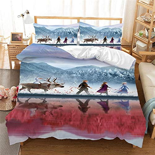 Aaooseso 3D Printing Of Duvet Covers For Boys And Girls Anime Theme Characters Double 200 X 200 Cm Quilt Duvet Cover With Zipper Closure 3 Pieces Super Microfiber Bedding Set With 2 Pillowcases 50X7