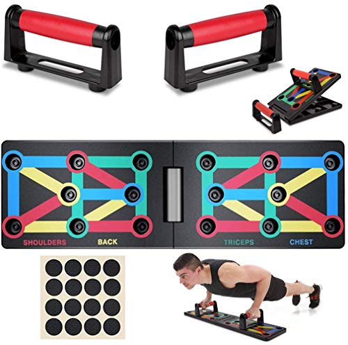 VANUODA Push Up Board - Body Building Oefening Tool - Push-up Stands Training System - Draagbare Opdruksteunen voor Mannen Vrouwen Thuis Fitness Training - 12 in 1 Opdruksteun Accessoires