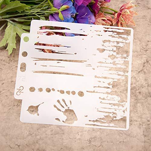 ECMQS Palm DIY Painting Stencils Schablonen, Waschbar Reusable Hohl Schablone Für Das Malen Von Holzveranda-Schildern, Verwendung An Der Wand, Stoff Und Platten Usw