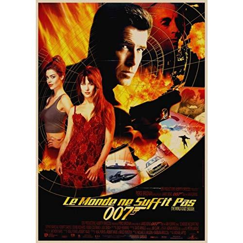 manyaxiaopu James Bond Serie 007 Pierce Brosnan Film Classici Arredamento per La Casa Decorazione Carta Kraft Poster Pittura Decorativa A12 40X60Cm