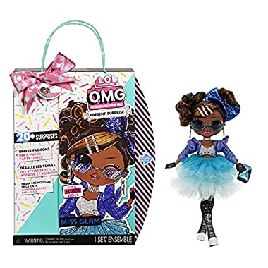 LOL Surprise OMG Present Surprise Fashion Doll Miss Glam with 20 Surprises, 5 Fashion Looks, and Fun Accessories for…