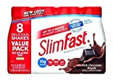 Slim-Fast Ready to Drink Bottles, Rich Chocolate Royale Meal Replacement Shake, 10-Ounces (Pack of 8)