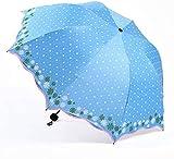 RRFZ Paraguas, Paraguas Plegable fácil de Llevar Paraguas Compacto RainWind Paraguas Protección Solar con Black GL (Paraguas)
