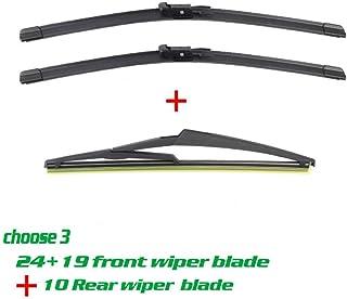 Dmwfaker Escobilla limpiaparabrisas Brazo Trasero, For Mercedes Benz GLA Class W156 2013, Front and Rear Wiper Onwards Windscreen Wiper Rubber 24+19+12