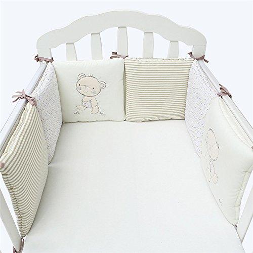 Moonvvin Kissen Stoßstange 6pcs Babybett Bett Stoßstange Atmungs Kindergarten Komfort Bettwäsche Set 30 * 30cm