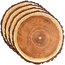 """Disposable Wooden Slice Paper Place Mats 50 Pack 13.5"""" Round Rustic Brown Wood Slices Charger Place Mat for Vintage Countr..."""