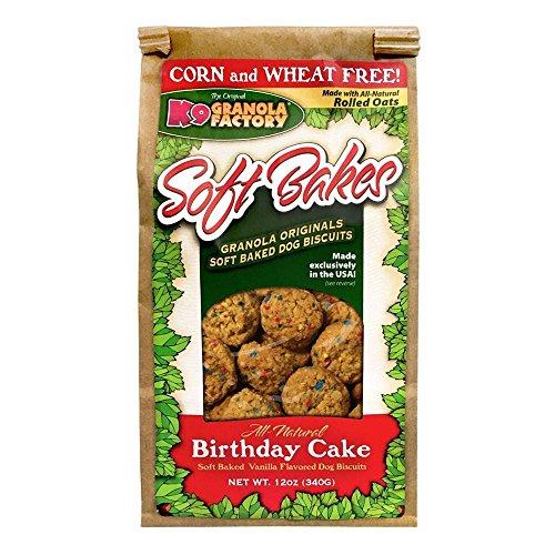 K9 Granola Factory All Natural Soft Bakes Dog Treats, 12 Ounces, Birthday Cake
