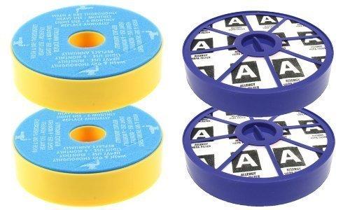 First4spares Kit de Filtres Lavable Pré Moteur et Après Moteur, Allergie HEPA Kit de Filtres pour Aspirateurs Dyson DC19 DC20 DC29 (2 de Chaque)