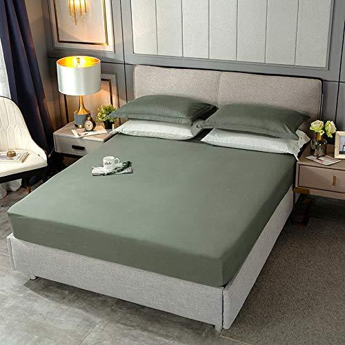 BOLO 100% algodón ropa de cama elástica colchón protector hogar hotel cama doble tamaño king cama libre de planchas antiarrugas, 120x200cm+28cm