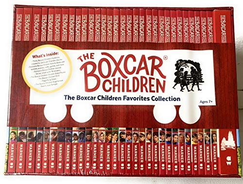 The Boxcar Children Favorites 30 Books Boxed Collection with Activity Book, Journal, Sticker Sheet , DVD, Magnifying Glass, and Poster