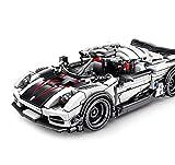 Maqueta Set de Construcción Coche de carreras,Gránulos de 728 bloques,Regalo modelo arquitectónico 3D juguetes educativos de bricolaje niños adultos. white,728pcs